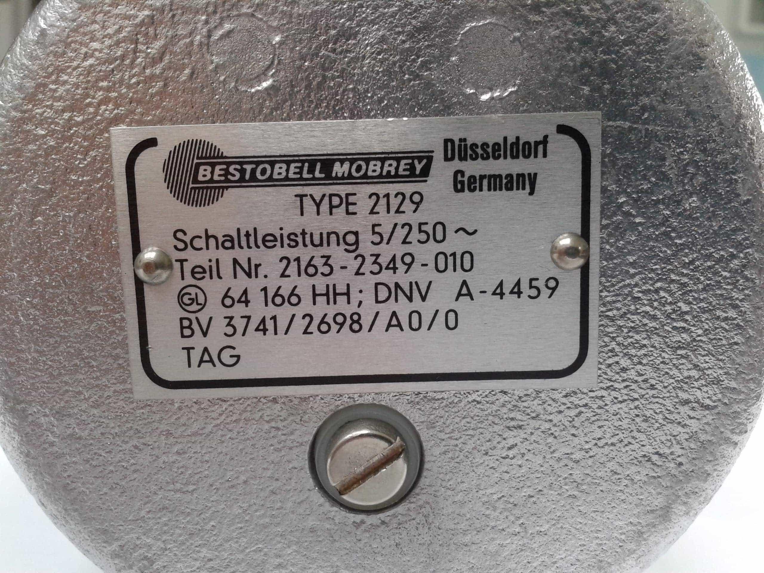Bestobell Mobrey 2129 Level Switch
